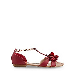 Joe Browns - Dark red tropical escape sandals