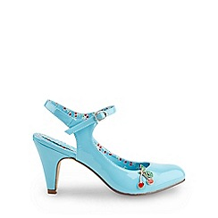 Joe Browns - Pale blue cherry baby patent shoes