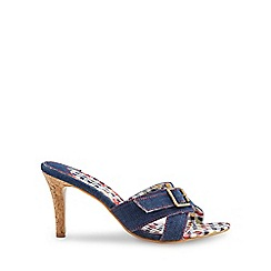 Joe Browns - Mid blue at the hop denim sandals