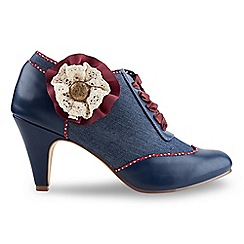 Joe Browns - Mid blue fabulous corsage shoe boots