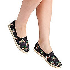 Joe Browns - Multi coloured canvas 'funky flamingo' espadrilles