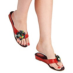 Joe Browns - Multi coloured 'down in rio' mid heel wedge mules