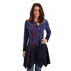 Joe Browns - Dark blue delightful dip dye lightweight jacket