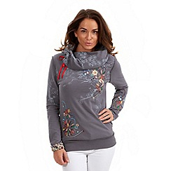Joe Browns - Dark grey slouch off the shoulder sweat