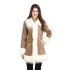 Joe Browns - Beige shaggy shangri la coat