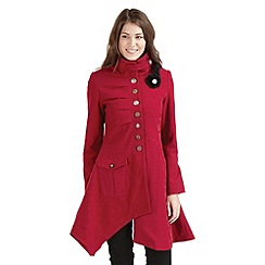 Joe Browns - Wine regal coat