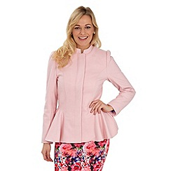 Joe Browns - Pink fabulous fluted coat