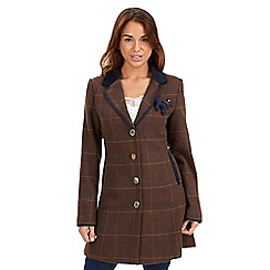 Joe Browns - Chocolate heritage longline jacket