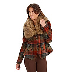 Joe Browns - Multi coloured funky fun time faux fur collar jacket