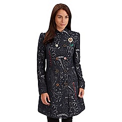 Joe Browns - Navy luxurious jacquard coat