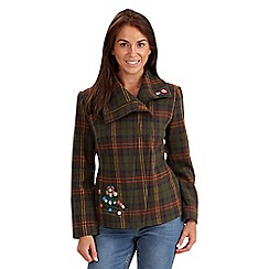 Joe Browns - Multi coloured checked biker jacket