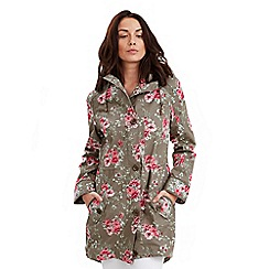 Joe Browns - Khaki fabulously floral raincoat