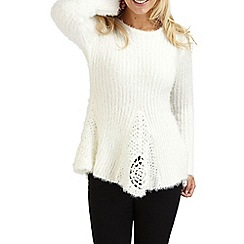 Joe Browns - Cream fluffy vintage jumper