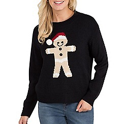 Joe Browns - Black gingerbread jumper