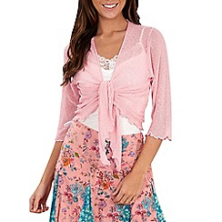 Joe Browns - Pink classic popcorn shrug