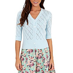 Joe Browns - Blue perfect pointelle cardigan