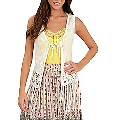 Joe Browns - Cream festival fringe cardigan