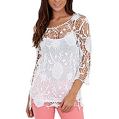 Joe Browns - White crochet cover up