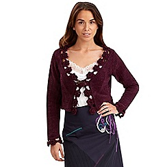 Joe Browns - Purple cosy crochet shrug