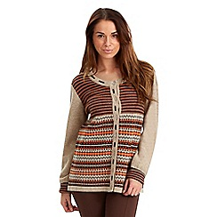 Joe Browns - Multi coloured snuggly knit cardigan