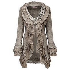Joe Browns - Beige luscious lace detail cardigan