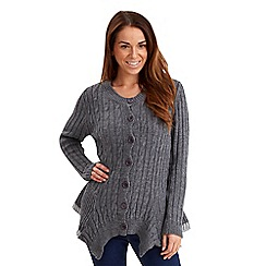 Joe Browns - Grey versatile cable cardigan