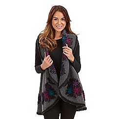 Joe Browns - Multi coloured freestyle fleece shawl