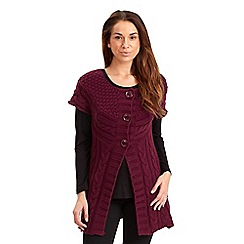 Joe Browns - Dark red comfy cosy cable cardigan