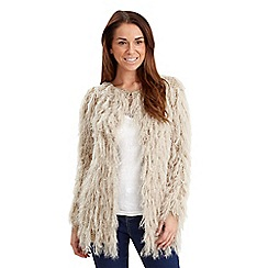 Joe Browns - Beige shagged out cardigan