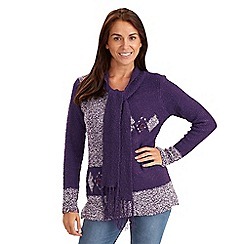Joe Browns - Purple scarf neck sweater