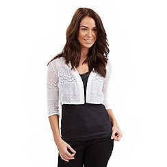 Joe Browns - White perfect pointelle shrug