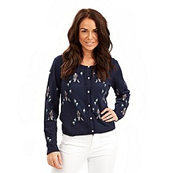Joe Browns - Navy afternoon tea cardigan