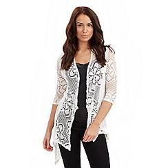 Joe Browns - White longline crochet cardigan
