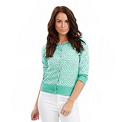 Joe Browns - Aqua marvellous mosaic cardigan