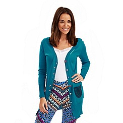 Joe Browns - Dark turquoise creative crochet pocket cardigan