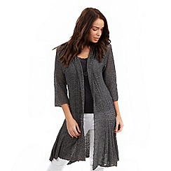 Joe Browns - Grey pointelle waterfall cardigan