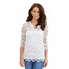 Joe Browns - White crochet 2 piece tunic