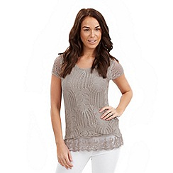 Joe Browns - Taupe crochet tunic