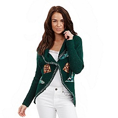 Joe Browns - Green applique cardigan