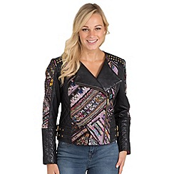 Joe Browns - Multi coloured totally unique leather biker jacket