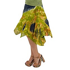 Joe Browns - Green yanomami tie-dye skirt