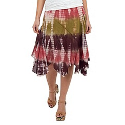 Joe Browns - Pink yanomami tie-dye skirt