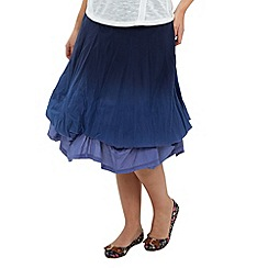 Joe Browns - Blue delightful dip-dye hitched skirt