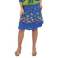 Joe Browns - Blue mexicana hitched skirt