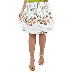 Joe Browns - White mexicana hitched skirt