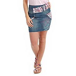 Joe Browns - Mid blue papagayo denim skirt