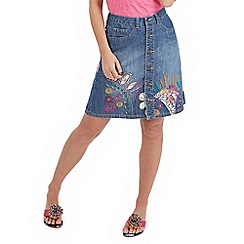 Joe Browns - Blue denim button through skirt