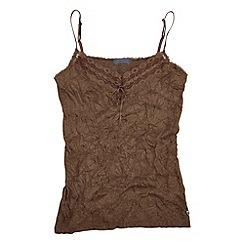 Joe Browns - Chocolate versatile crinkle camisole
