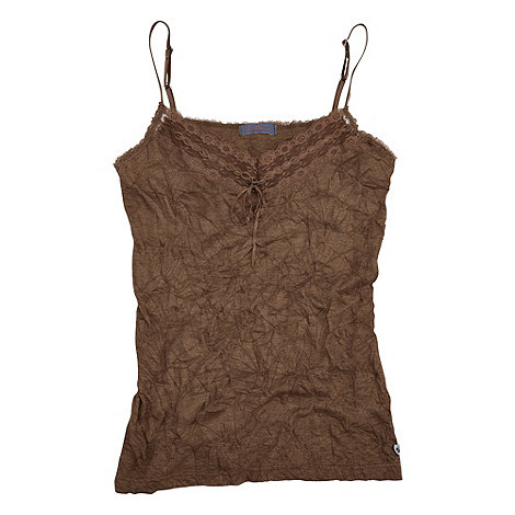 Joe Browns - Chocolate versatile crinkle camisole