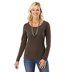 Joe Browns - Brown versatile long sleeved top